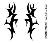 tattoo sketch tribal vector... | Shutterstock .eps vector #626812163