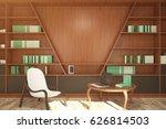 Contemporary Library Interior...