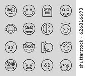 smiley icons set. set of 16... | Shutterstock .eps vector #626816693