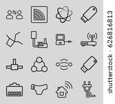 connect icons set. set of 16... | Shutterstock .eps vector #626816813