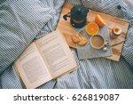 breakfast served in bed  ... | Shutterstock . vector #626819087