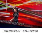 happy dj in a night club | Shutterstock . vector #626822693