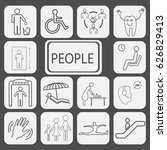 set of icons for people ... | Shutterstock .eps vector #626829413