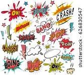 comic sound effect set. bubble... | Shutterstock .eps vector #626830547
