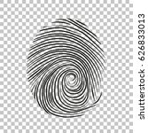 fingerprint icon | Shutterstock .eps vector #626833013