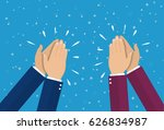 human hands clapping. applaud... | Shutterstock . vector #626834987