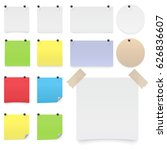 colorfull and white stickers... | Shutterstock .eps vector #626836607