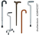 vector set of walking stick | Shutterstock .eps vector #626842337