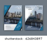 abstract a4 brochure cover... | Shutterstock .eps vector #626843897