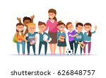 vector illustration group... | Shutterstock .eps vector #626848757