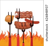 barbecue  | Shutterstock .eps vector #626848937