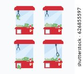 finance   business claw game... | Shutterstock .eps vector #626855597