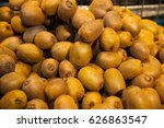 group of kiwi fruits on the... | Shutterstock . vector #626863547