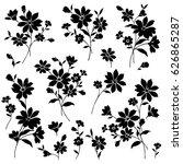 Stock vector flower illustration material 626865287