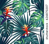 exotic tropical background with ... | Shutterstock . vector #626870207