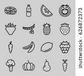 vegetarian icons set. set of 16 ...   Shutterstock .eps vector #626872373