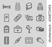 hospital icons set. set of 16... | Shutterstock .eps vector #626872403