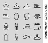 cloth icons set. set of 16... | Shutterstock .eps vector #626872583