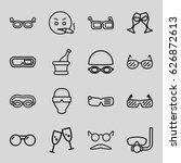 glasses icons set. set of 16... | Shutterstock .eps vector #626872613