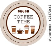 coffee time sign with different ... | Shutterstock .eps vector #626873663