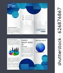 creative two page tri fold... | Shutterstock .eps vector #626876867