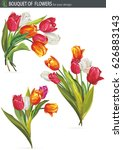 Bouquet Of Colorful Tulips...
