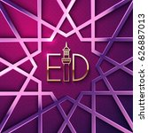 colorful greeting card for holy ... | Shutterstock .eps vector #626887013