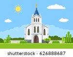 church icon. vector... | Shutterstock .eps vector #626888687