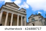 exterior of san marino cathedral | Shutterstock . vector #626888717