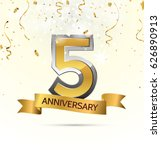 5 years anniversary celebration ... | Shutterstock .eps vector #626890913