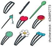 vector set of hairpin | Shutterstock .eps vector #626892773