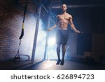 skipping on jump rope is the... | Shutterstock . vector #626894723