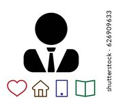 user vector flat pictograph...