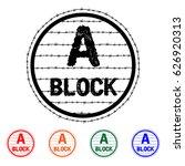 prison logo vector black. block ... | Shutterstock .eps vector #626920313