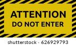 do not enter sign | Shutterstock .eps vector #626929793