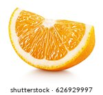 Ripe Slice Of Orange Citrus...