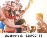 happy friends having a boat...   Shutterstock . vector #626932463