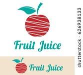 fruit juice logo | Shutterstock .eps vector #626938133