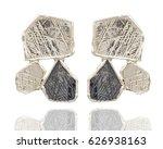 golden earrings  isolated on... | Shutterstock . vector #626938163
