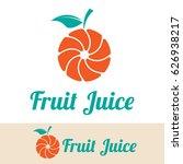 fruit juice logo | Shutterstock .eps vector #626938217