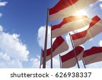 indonesia flags waving in the... | Shutterstock . vector #626938337