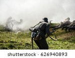 german soldiers. historical... | Shutterstock . vector #626940893