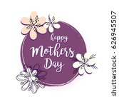 happy mothers day concept... | Shutterstock .eps vector #626945507