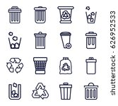 Recycling Icons Set. Set Of 16...