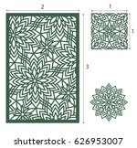 vector laser cut panel  the... | Shutterstock .eps vector #626953007