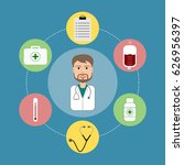 young doctor character... | Shutterstock .eps vector #626956397