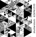 seamless pattern tropical birds ...   Shutterstock .eps vector #626961533
