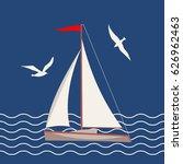 vector flat marine icon.... | Shutterstock .eps vector #626962463