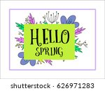 spring background with... | Shutterstock .eps vector #626971283