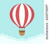 hot air balloon in the sky with ... | Shutterstock .eps vector #626974097